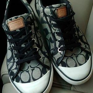 Coach Barrett black and gray shoes